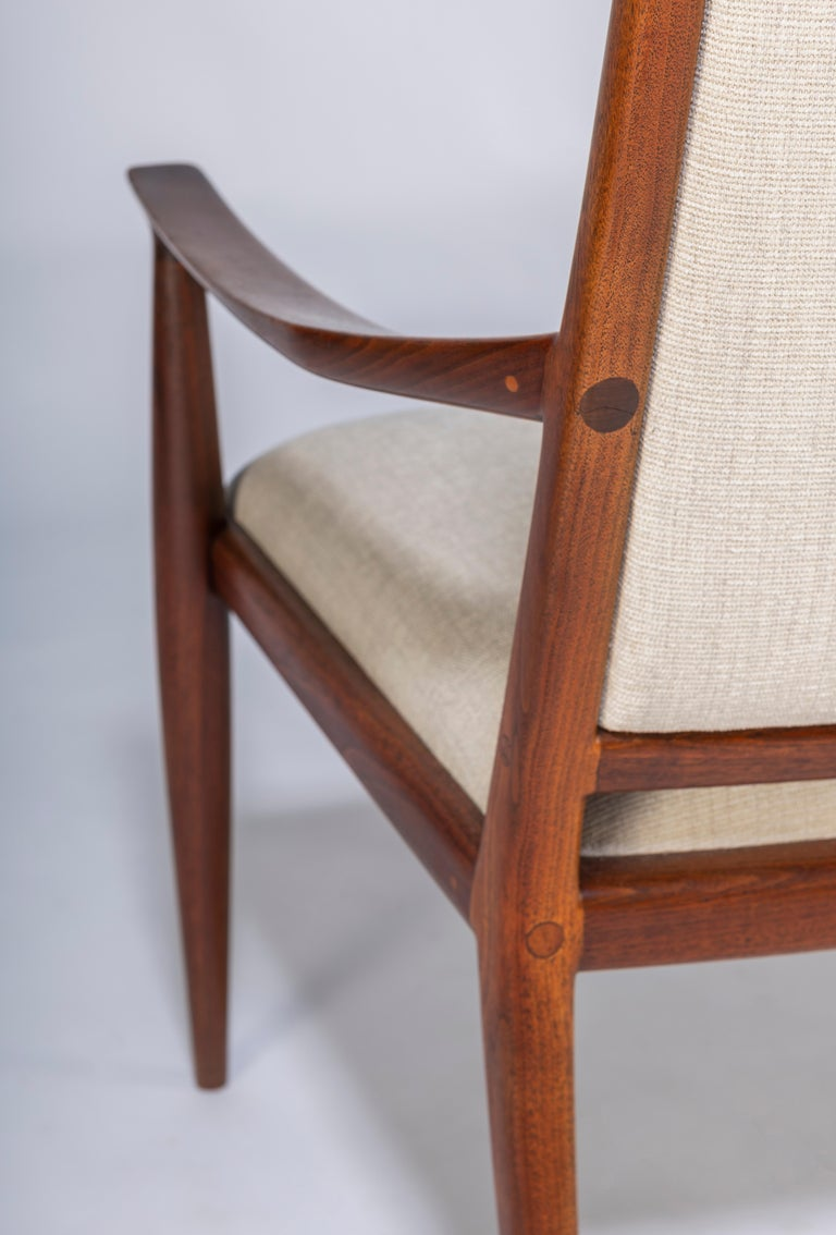 Pair of John Nyquist Walnut Armchairs For Sale 4
