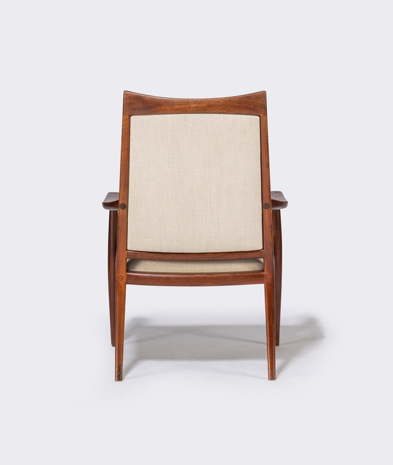 Pair of John Nyquist Walnut Armchairs For Sale 1