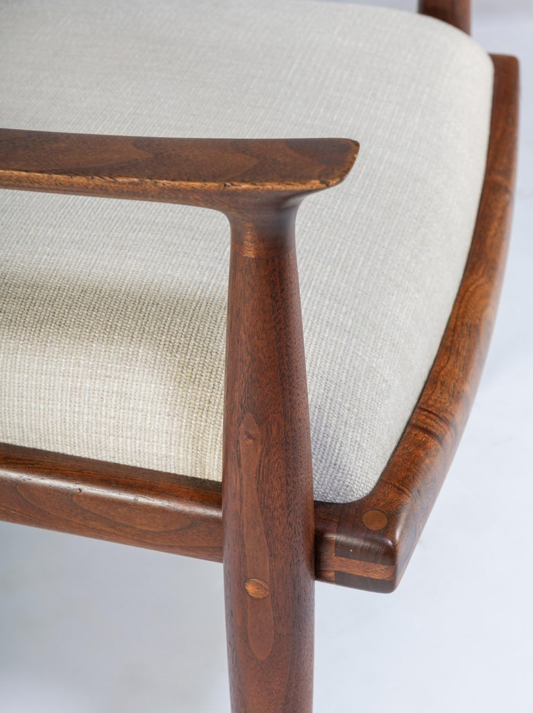 Pair of John Nyquist Walnut Armchairs For Sale 2