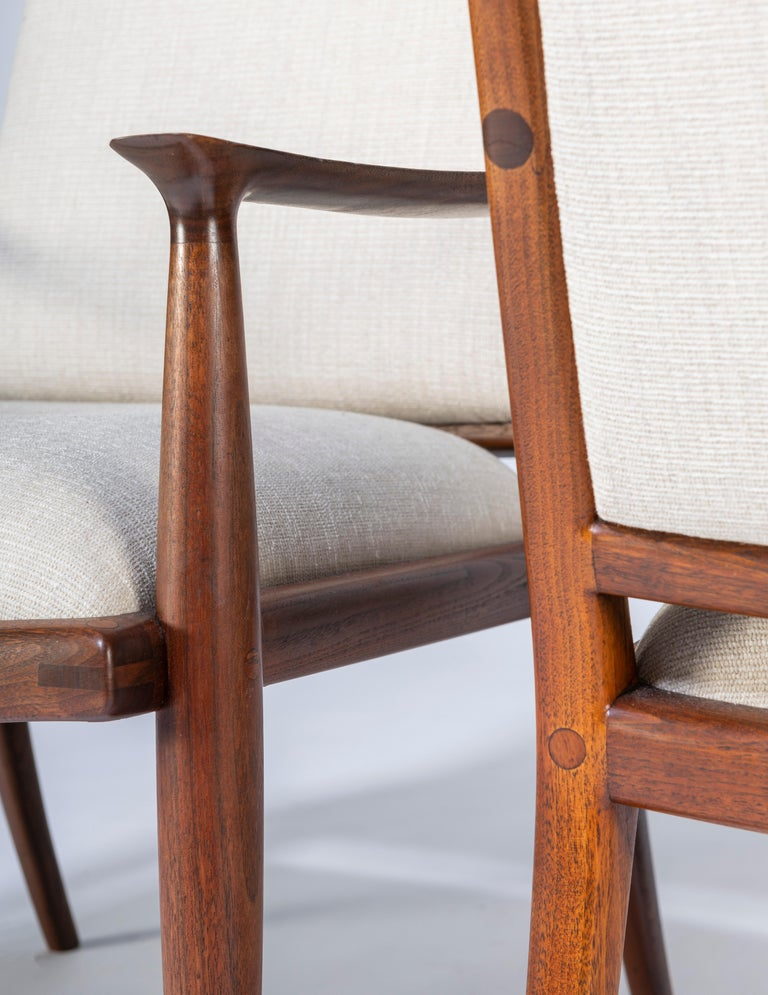 Pair of John Nyquist Walnut Armchairs For Sale 3
