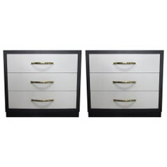 Pair of John Stuart Three-Drawer Chests
