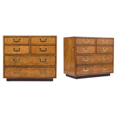 Pair of John Widdicomb Burled Dressers