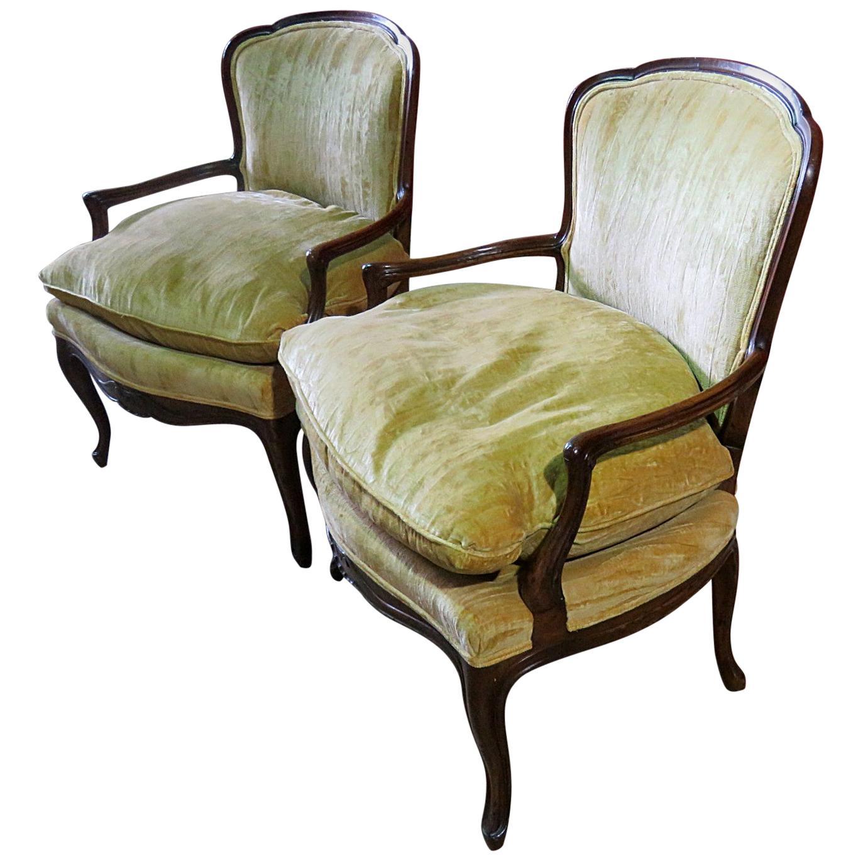 Pair of John Widdicomb Louis XVI Style Armchairs