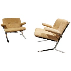 Pair of Joker Armchairs by Olivier Mourgue, 1970s