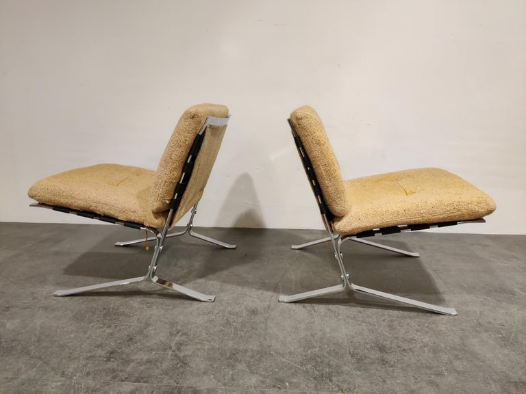 Pair of vintage Joker lounge chairs designed by Olivier Mourgue for Airborne International.