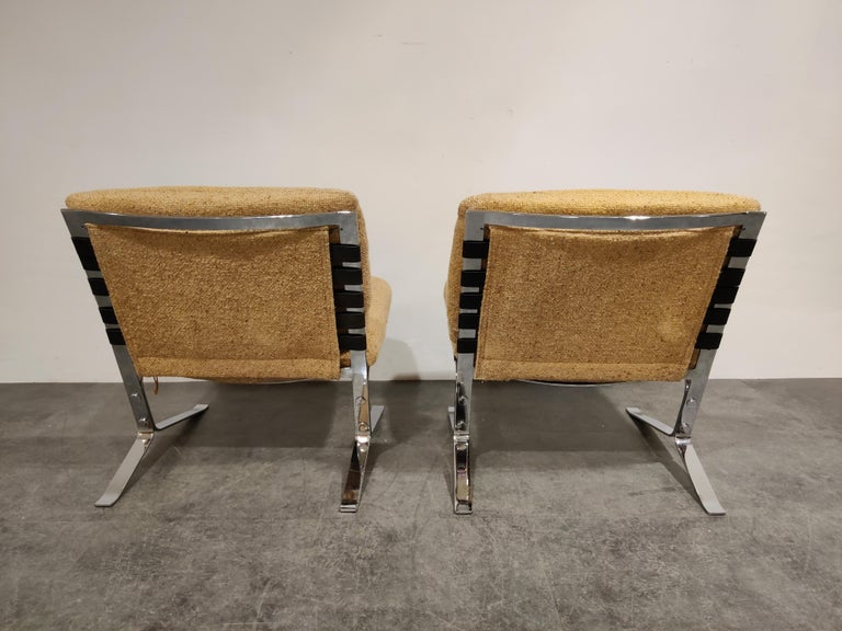 Mid-Century Modern Pair of Joker Lounge Chairs by Olivier Mourgue, 1970s For Sale