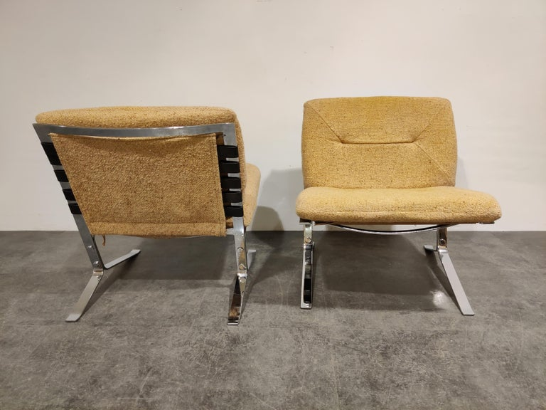 Pair of Joker Lounge Chairs by Olivier Mourgue, 1970s In Good Condition For Sale In Ottenburg, BE