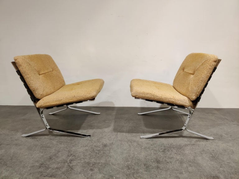 Late 20th Century Pair of Joker Lounge Chairs by Olivier Mourgue, 1970s For Sale