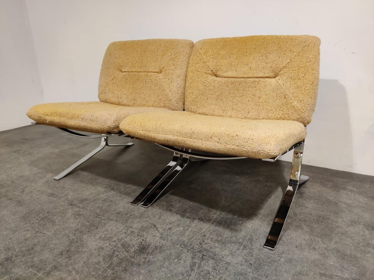 Pair of Joker Lounge Chairs by Olivier Mourgue, 1970s For Sale 2
