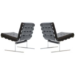 Pair of Jorge Zalszupin for L'Atalier Brazilian Modern Lounge Chairs, circa 1960