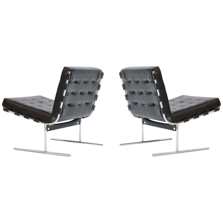 Pair of Jorge Zalszupin for L'Atalier Brazilian Modern Lounge Chairs, circa 1960 For Sale