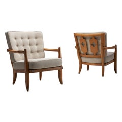 Pair of 'José' Armchairs by Guillerme et Chambron, France, 1950s
