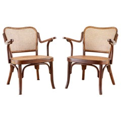 Pair of Josef Frank for Thonet Bentwood Armchairs