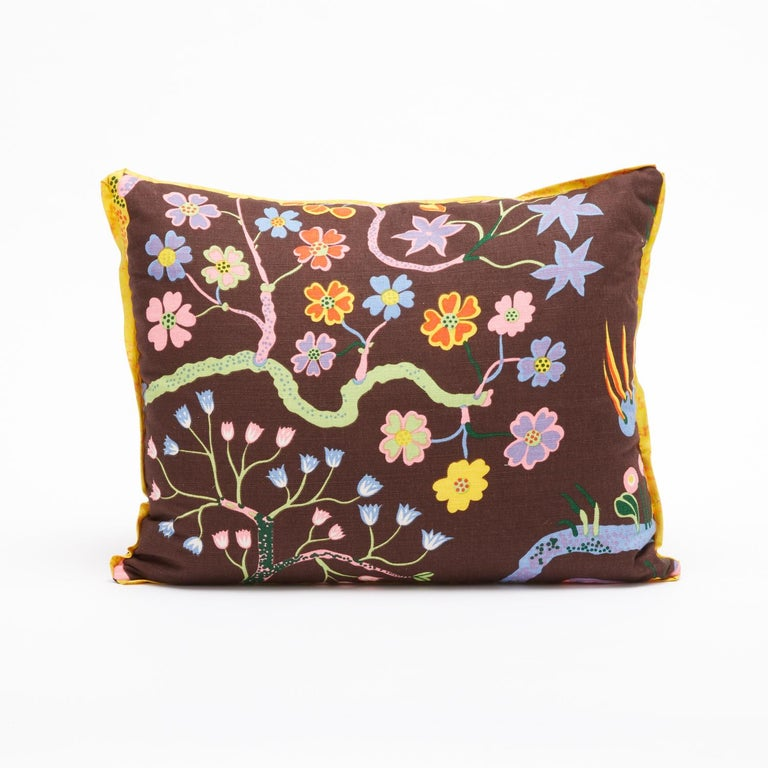 Modern Pair of Josef Frank Rectangular Cushions in the Hawaii Pattern For Sale