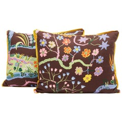 Pair of Josef Frank Rectangular Cushions in the Hawaii Pattern