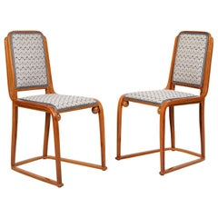 Pair of Josef Hoffmann and Jacob&Josef Kohn Chairs Originals 1905 of the Period