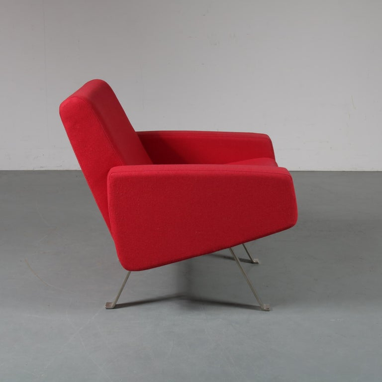 Dutch Pair of Joseph Andre Motte Lounge Chairs for Artifort, Netherlands, 1965 For Sale