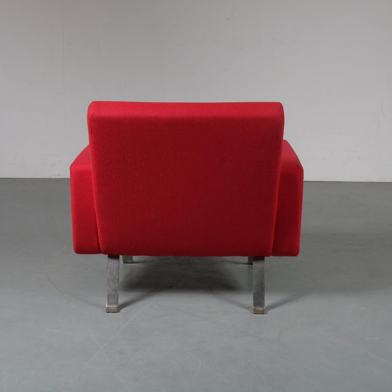 Pair of Joseph Andre Motte Lounge Chairs for Artifort, Netherlands, 1965 In Good Condition For Sale In Amsterdam, NL