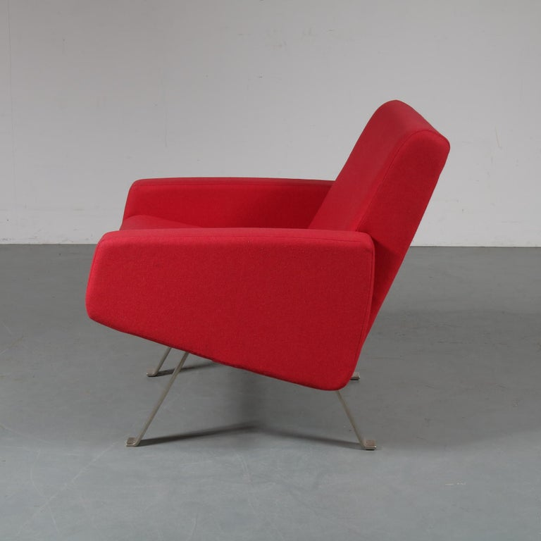 20th Century Pair of Joseph Andre Motte Lounge Chairs for Artifort, Netherlands, 1965 For Sale