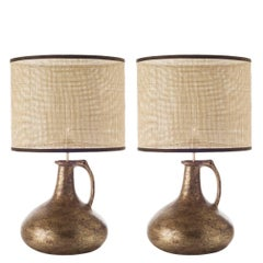 Pair of Jug Ceramic Table Lamps