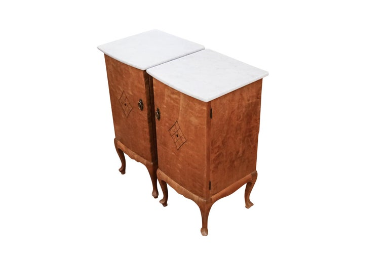 Pair of Jugendstil Nightstands, Sweden, 1920 In Good Condition For Sale In New York, NY