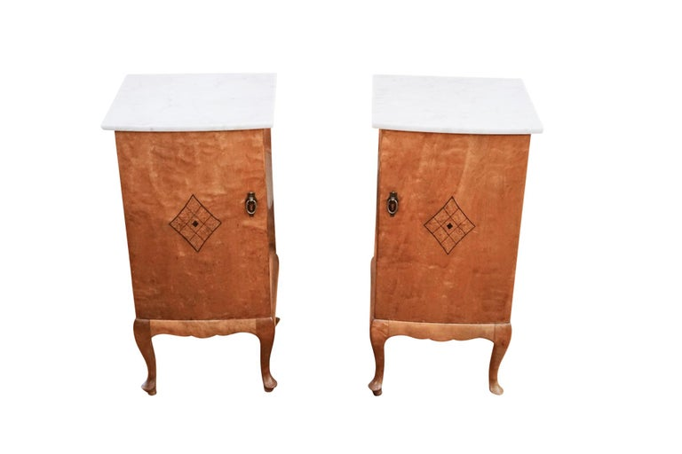 Early 20th Century Pair of Jugendstil Nightstands, Sweden, 1920 For Sale