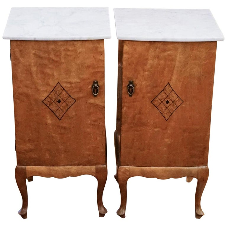 Pair of Jugendstil Nightstands, Sweden, 1920 For Sale