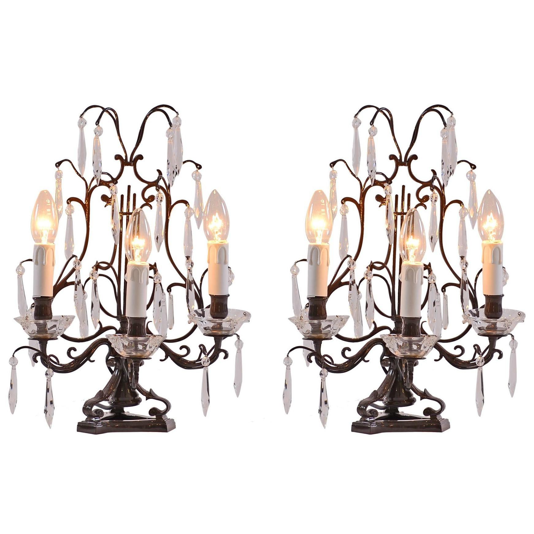 Pair of Original Jugendstil Table Lamps Early 20th century