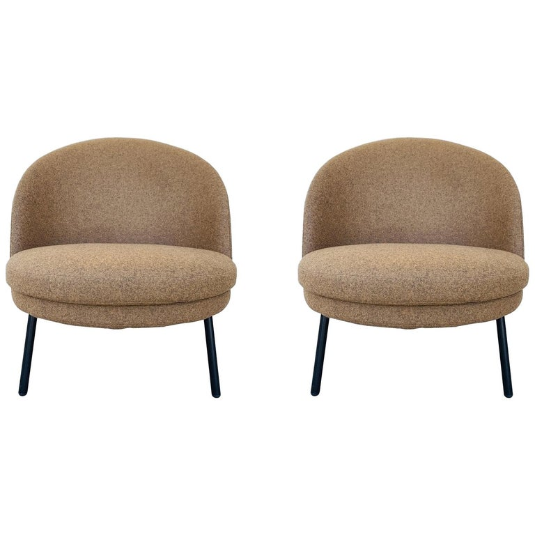 Pair of Jules Slipper Chairs by Claesson Koivisto Rune for Artflex For Sale