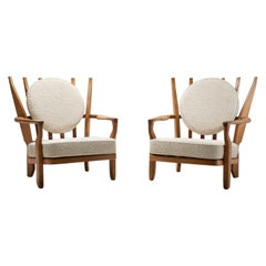 Pair of 'Juliette' Armchairs by Guillerme and Chambron, France, 1950s
