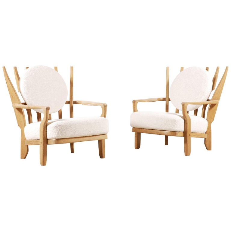Guillerme et Chambron for Votre Maison Juliette armchairs, ca. 1950, offered by Jasper Maison