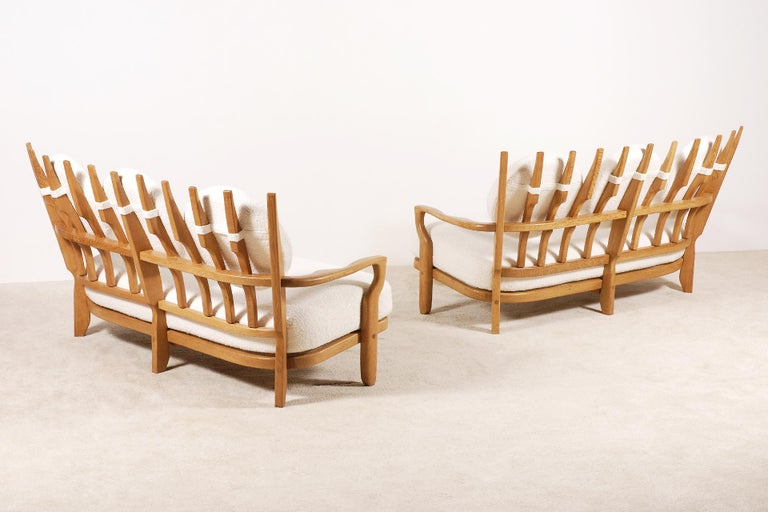 Here is a lovely pair of settees, model
