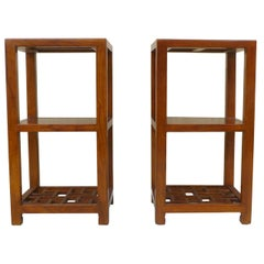Pair of Jumu End Tables