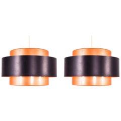 Pair of Juno Pendant Lamp by Jo Hammerborg for Fog and Mørup
