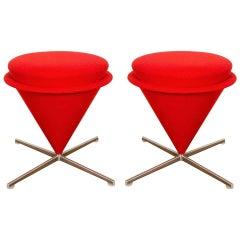 "Pair of ""K3 Cone 'Foot' Stools,"" by Verner Panton, Model from 1958-1959"