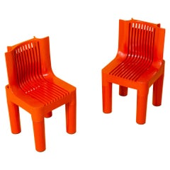 Pair of K4999 Richard Sapper for Kartell Child's Chair