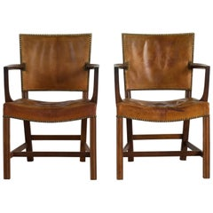 Pair of Kaare Klint Armchairs for Rud. Rasmussen