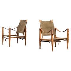 Pair of Kaare Klint Safari Chairs, 1960s