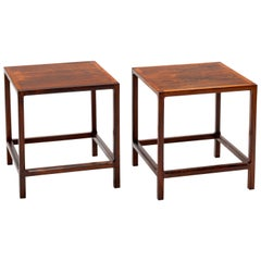 Pair of Kai Kristiansen Danish Solid Rosewood End Tables by Aksel Kjersgaard