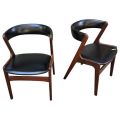 Pair of Kai Kristiansen Style Teak Chairs