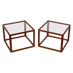 Pair of Kai Kristiansen Teak Cube Side Tables