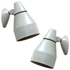 Pair of Kaiser Wall Lamps, 1940