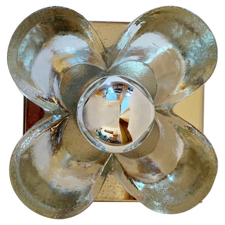Pair of Kalmar Floral 1970s Wall Lights For Sale