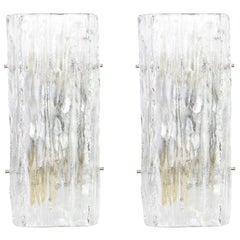 Pair of Kalmar Murano Sconces Wall Lights, Austria, 1960s