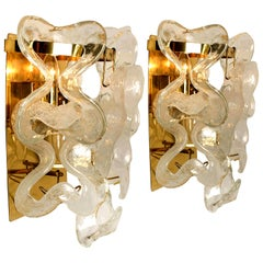 "Pair of Kalmar Wall Sconces or Lights Model ""Catena"" by J.T. Kalmar, Austria"