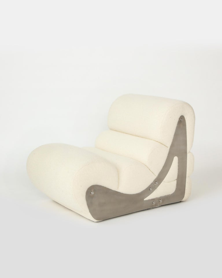 Pair of Sculptural Kappa Slipper Chairs, 1970s France For Sale 7