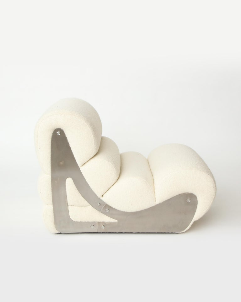 Late 20th Century Pair of Sculptural Kappa Slipper Chairs, 1970s France For Sale