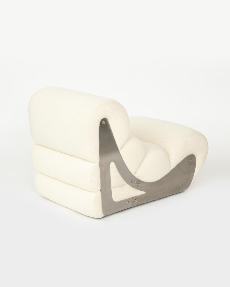 Pair of Sculptural Kappa Slipper Chairs, 1970s France For Sale 2