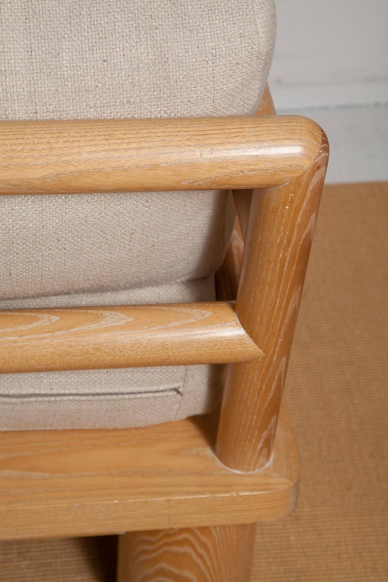 Pair of Karl Springer Cerused Oak Dowelwood Chairs For Sale 4