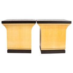 Pair of Karl Springer Pedestals